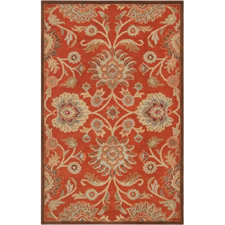 Stylishly anchor your living room or master suite with this elegant hand-tufted wool rug, showcasing a classic botanical motif for timeless appeal. ...