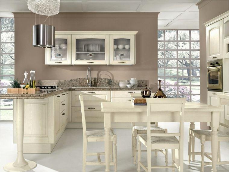 soluzione angolare per cucine in muratura bianche con parete color ...
