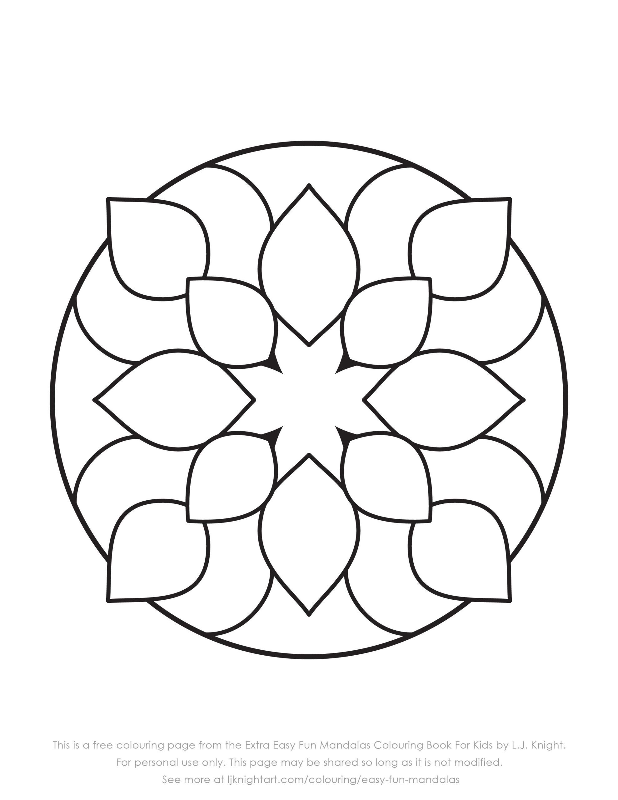 Simple Mandala Flower Coloring Pages Coloring Pages Coloring Book Simple Mandala For Kids To In 2020 Mandala Coloring Pages Mandala Coloring Easy Coloring Pages