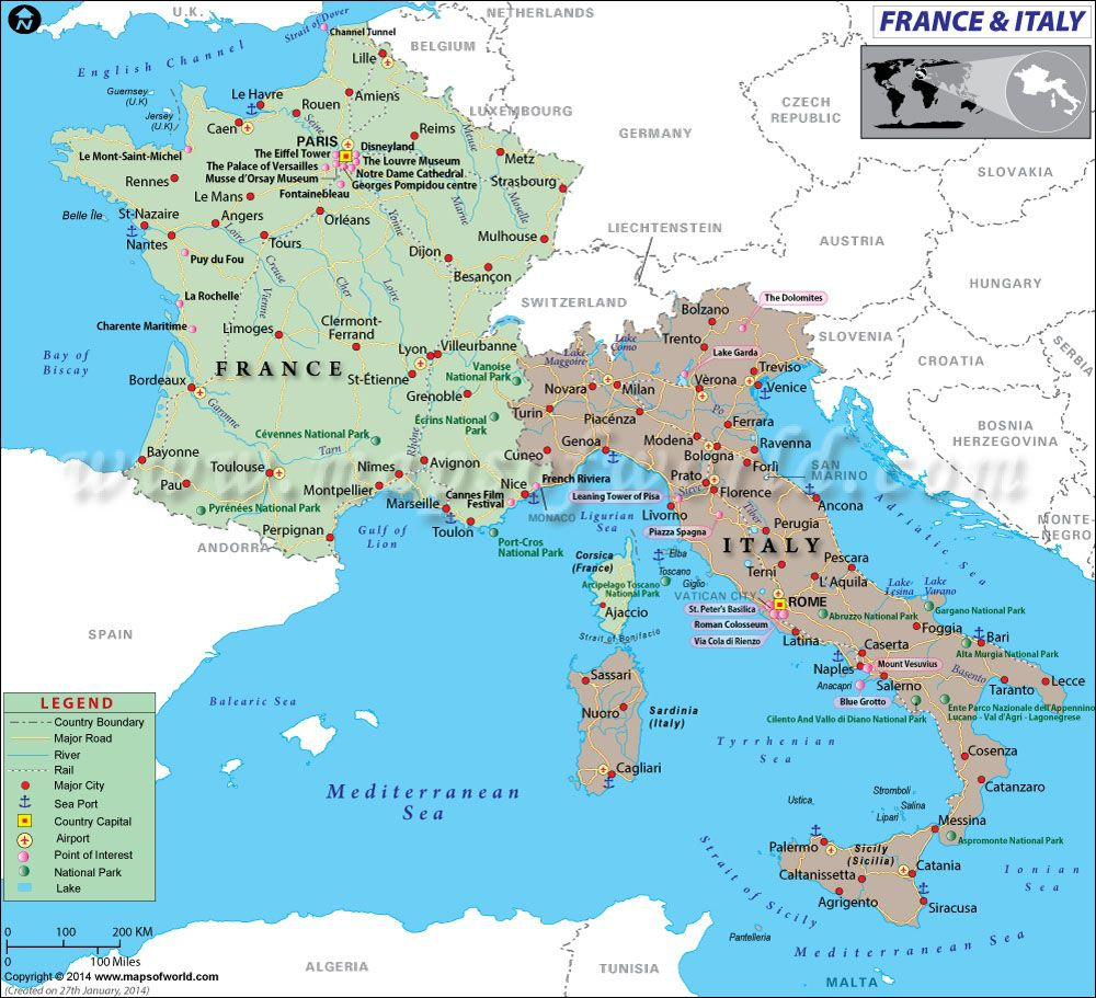 Map Of France And Italy France Map Italy Map France