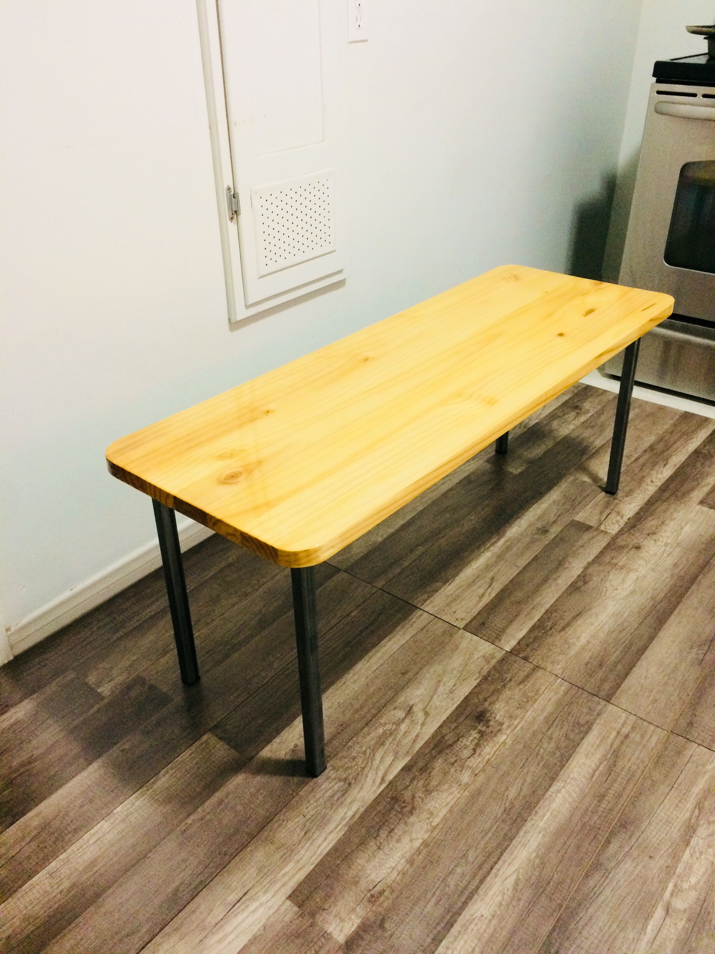 Epoxy Resin Pine Table With Steel Legs Industrial Chic Reddogscrafts On Etsy Pine Table Coffee Table Industrial Furniture