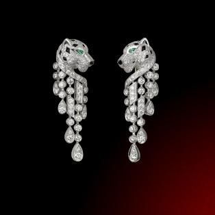 Cartier Panthere Bracelet Panther Earrings