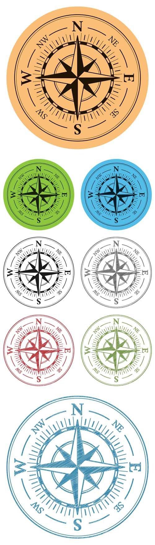 Vector Compass Icon เข็มทิศ