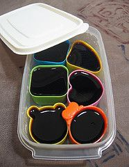 Jello cups for bento lunches.