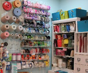 Scrapbooking With Images Quilting Room Pegboard Storage Craft Room Office