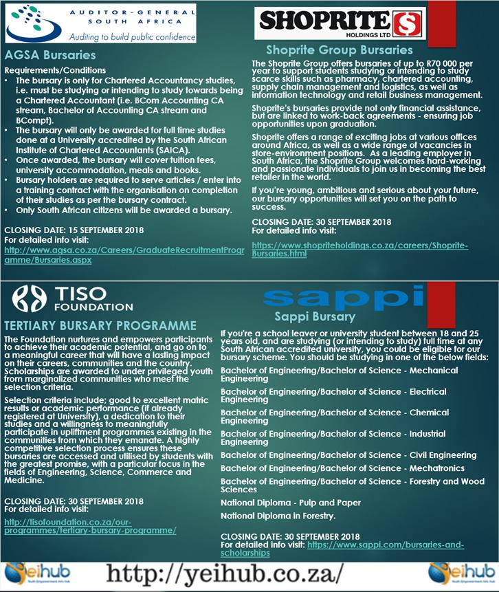 Call for Bursary Applications!! AGSA Bursaries CLOSING