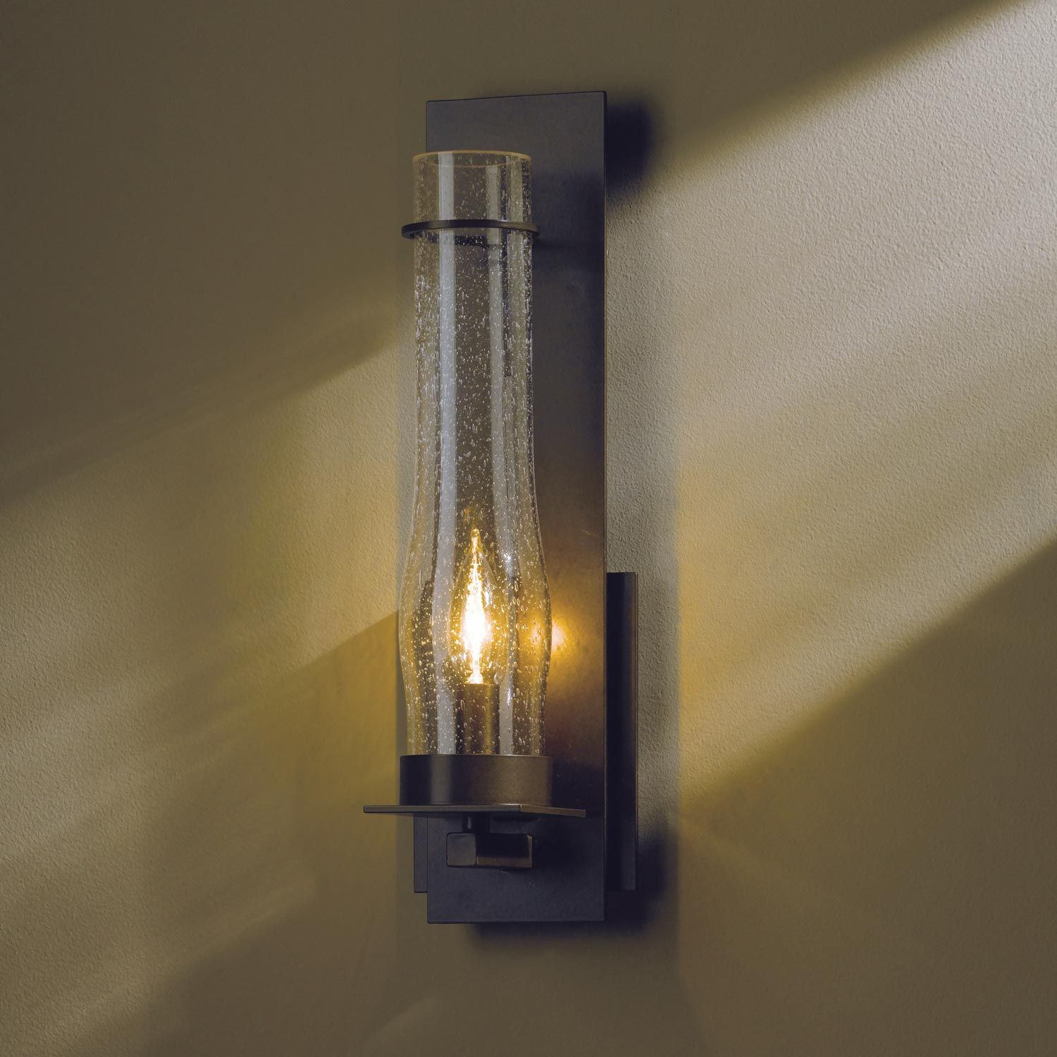 Hubbardton Forge New Town Sconce: New Town Clear Seeded Wall Light By Hubbardton Forge
