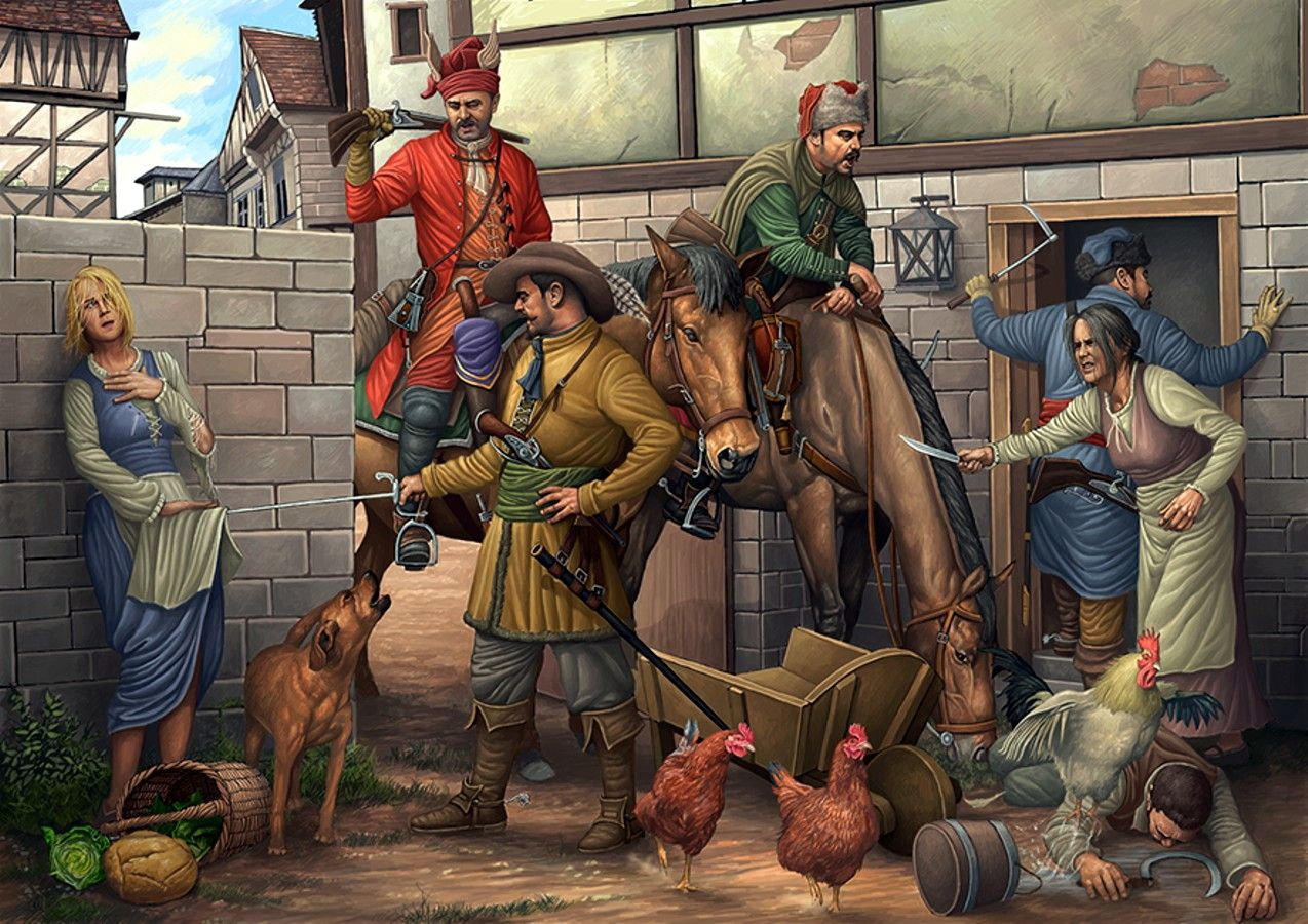 German Looters During The Thirty Years War