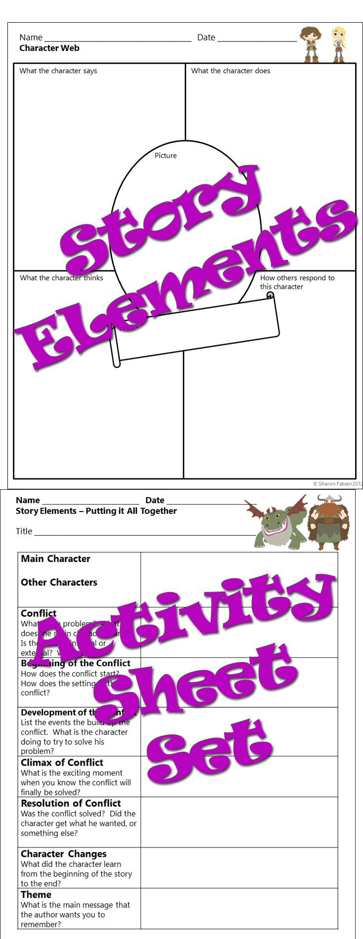 Fifteen Well Designed Printable Activity Sheets For Working With Any Story The Topics Story Elements Story Elements Activities Teaching Reading Comprehension