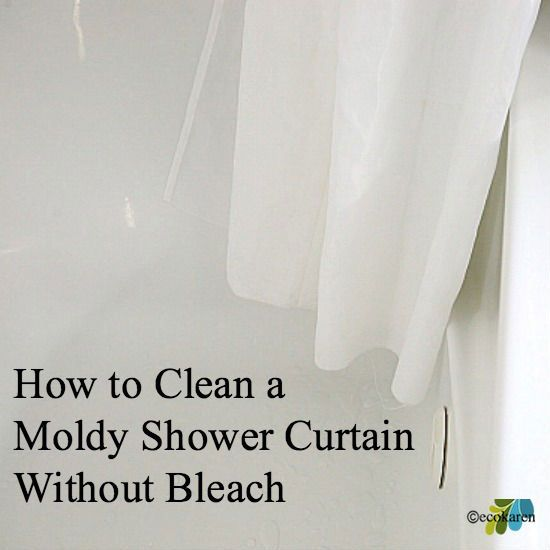 how to clean a moldy shower curtain without bleach | Clean ...