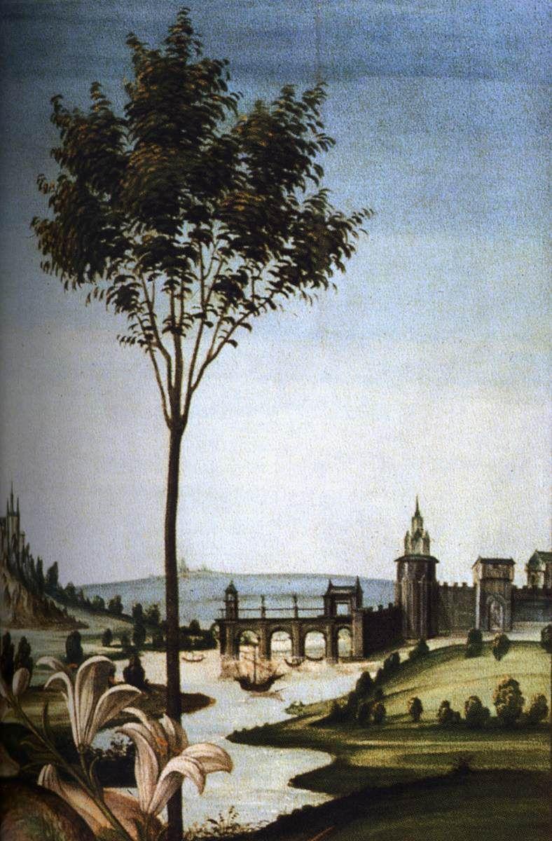 BOTTICELLI, Sandro Cestello Annunciation (detail) 1489-90