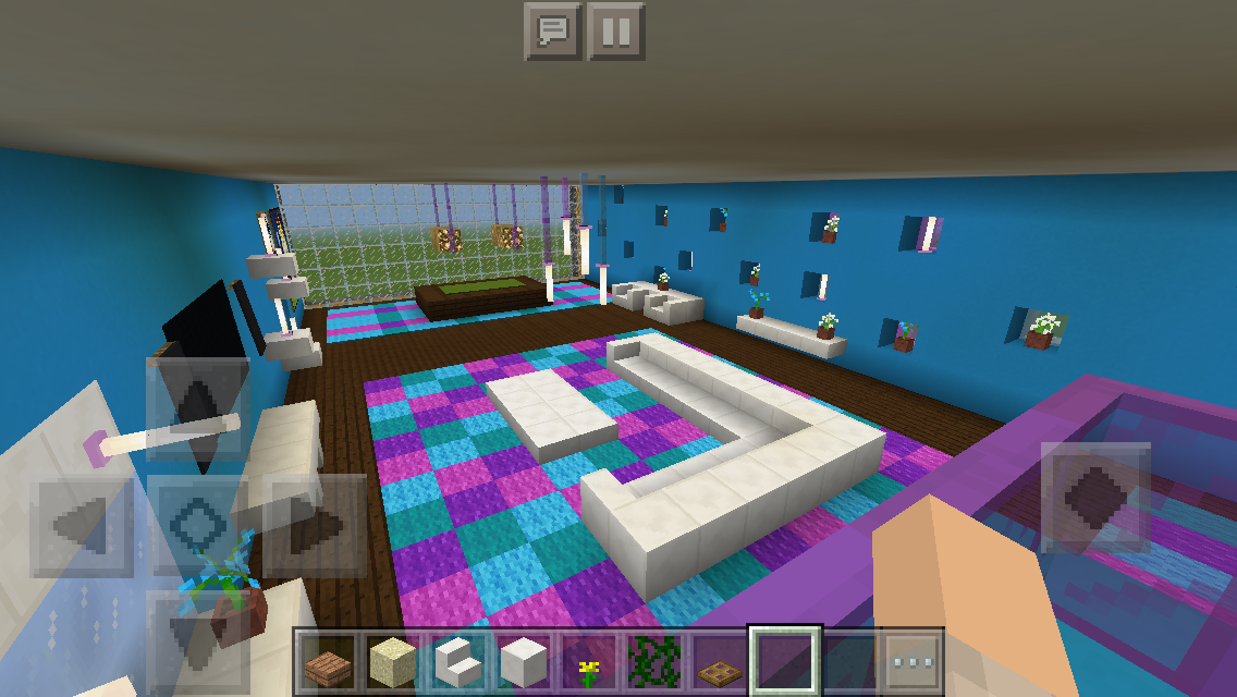 minecraft inside wall design - Google Zoeken in 2020 ... |Minecraft Mansion Inside Bedroom