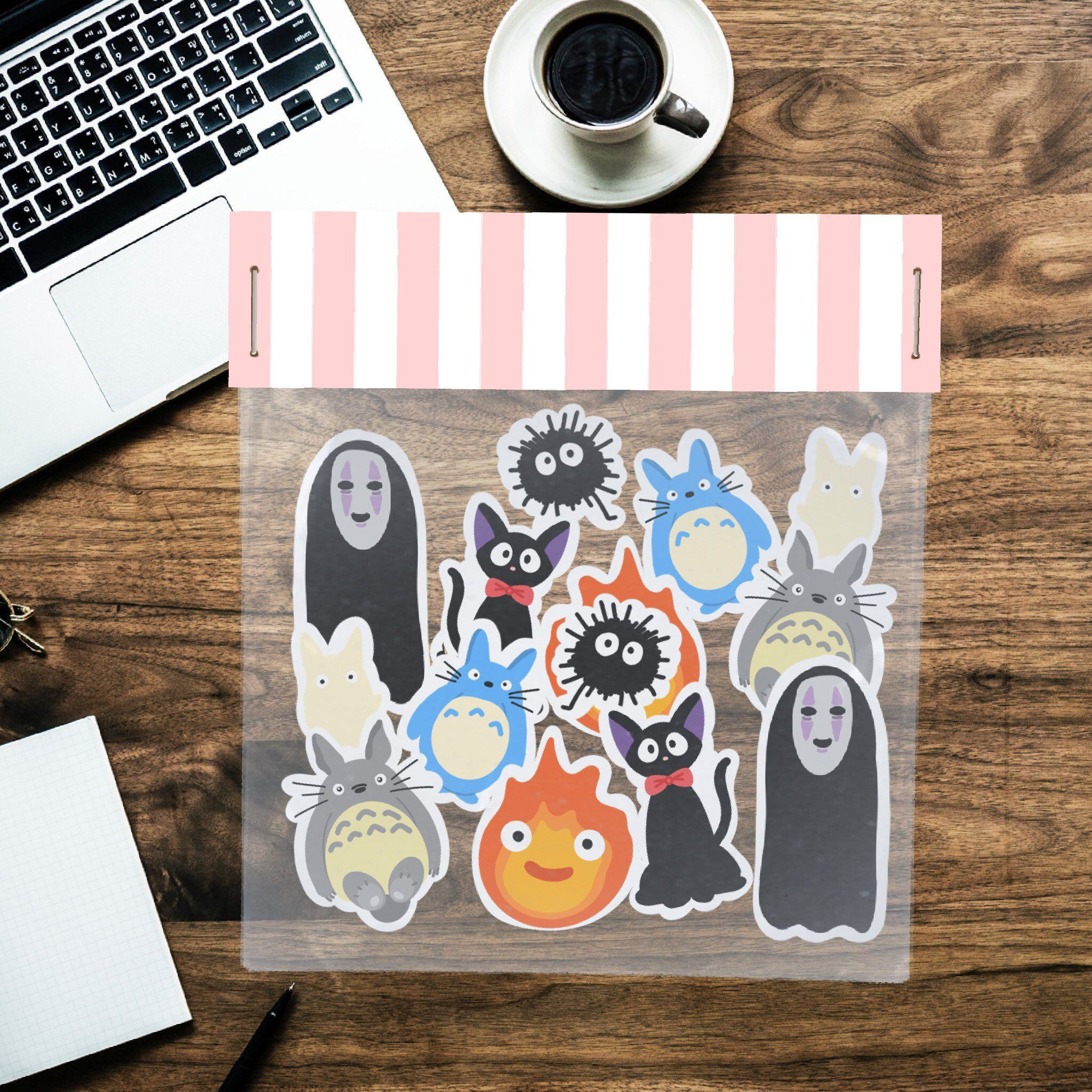 14 Pcs Kawaii Studio Ghibli Decorative Sticker Flakes Aesthetic Vinyl Stickers For Planners And Bullet Journals In 2020 Planner Stickers Cute Stickers Easter Stickers