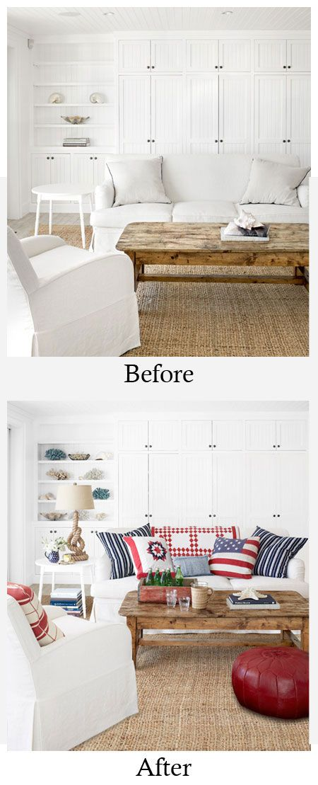 Best Living Room Makeovers Before And After All White Left 400 x 300