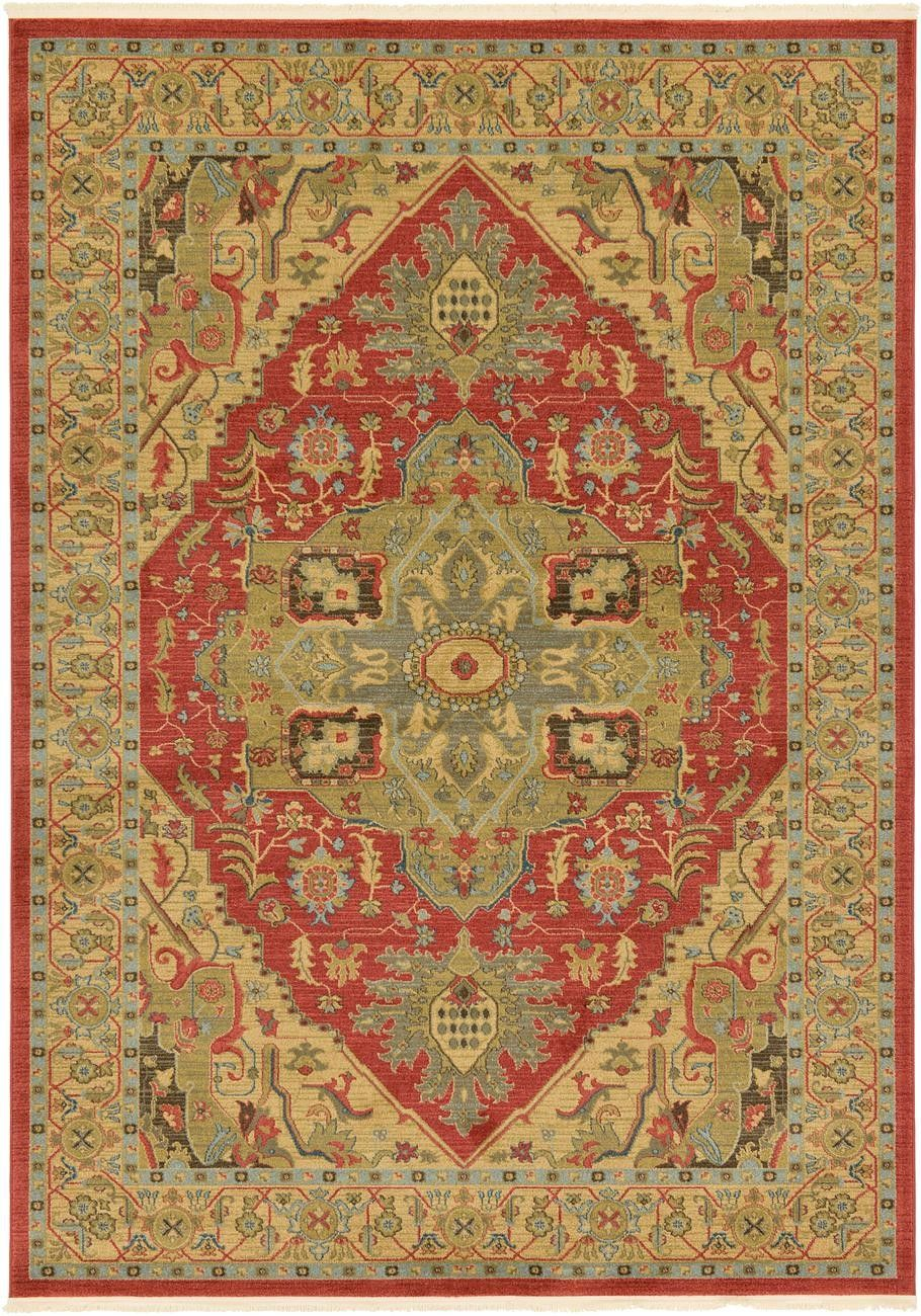 Sina Red Area Rug