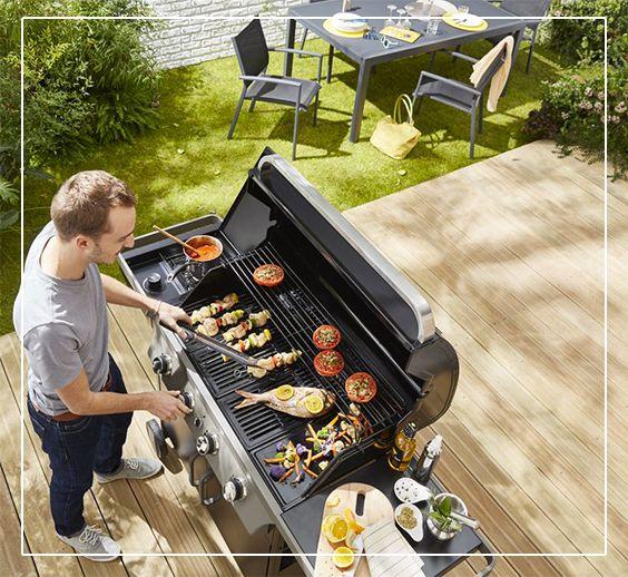 barbecue gaz blooma barker 4 noir jardin am nagement. Black Bedroom Furniture Sets. Home Design Ideas