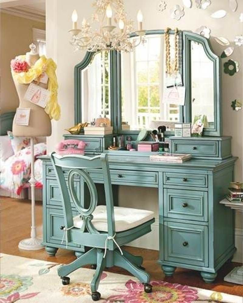 Glamorous Classy Bedroom Vanity with Mirror | Vanities, Bedrooms ...