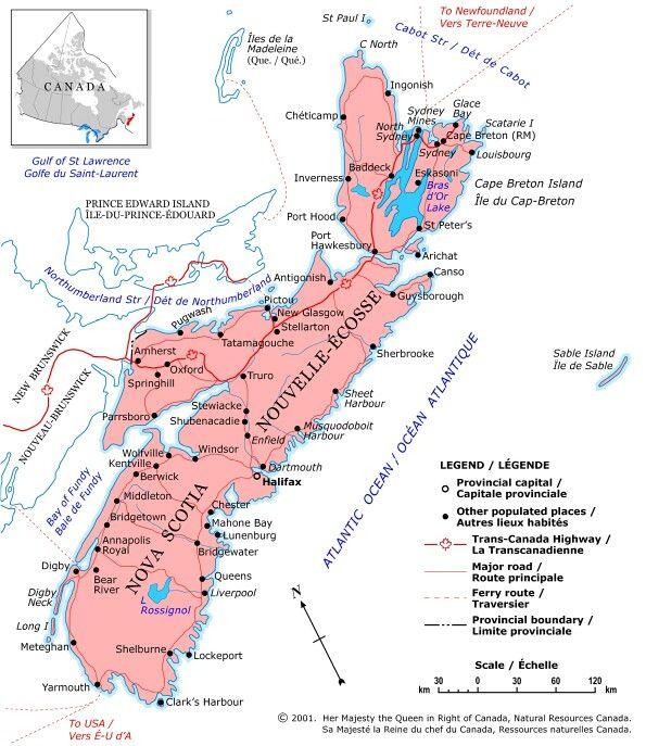 Nova Scotia Map CANADA Pinterest Nova scotia