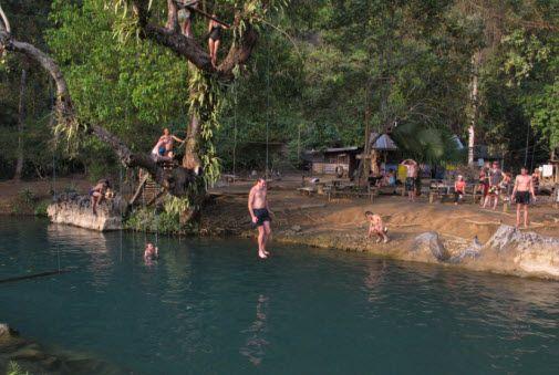 Tham Poukham The Blue Lagoon And Poukham Cave In Vang Vieng Blue Lagoon Laos Luang Prabang