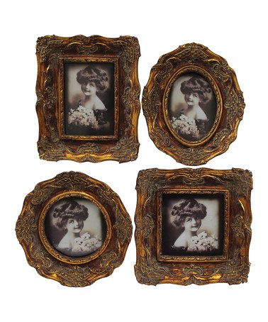 Love this Gold Mini Picture Frame Set on #zulily, $30 !!   #zulilyfinds