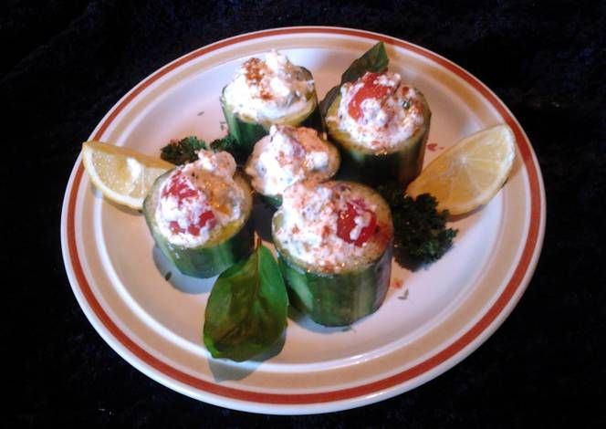 Amy's cucumber cups . Recipe -  Are you ready to cook? Let's try to make Amy's cucumber cups . in your home!