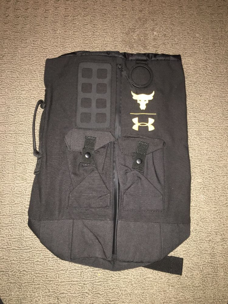 Under Armour Project Rock Duffle Bag Back Pack Black Yellow New With Tags   fashion  clothing  shoes  accessories  unisexclothingshoesaccs   unisexaccessories ... accb60f05b7b5