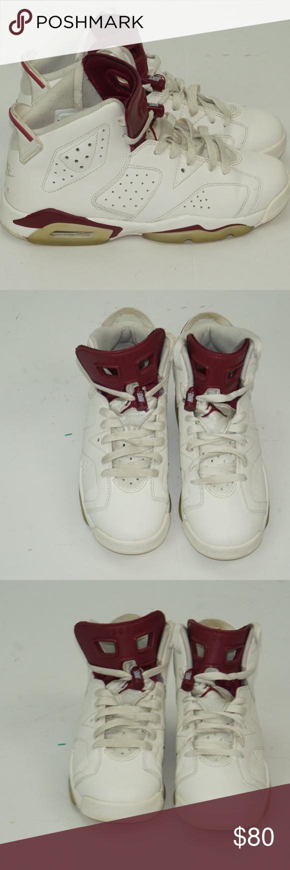 83ba554fc766ef Nike Air Jordan 6 Retro OG BG Shoes Youth Air Jordan 6 Retro OG BG Off  White 836342-115 Size 6.5Y Nike Shoes Sneakers