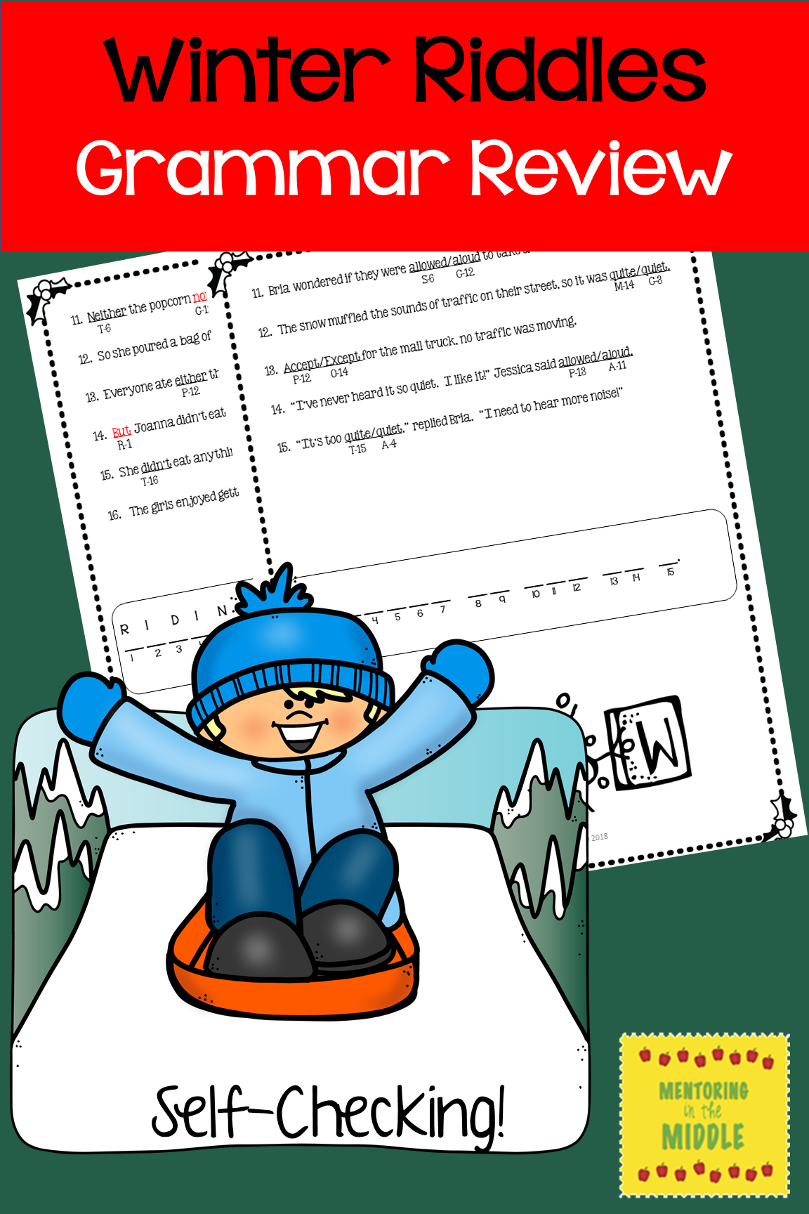 Five engaging, selfassessing grammar skills riddles and