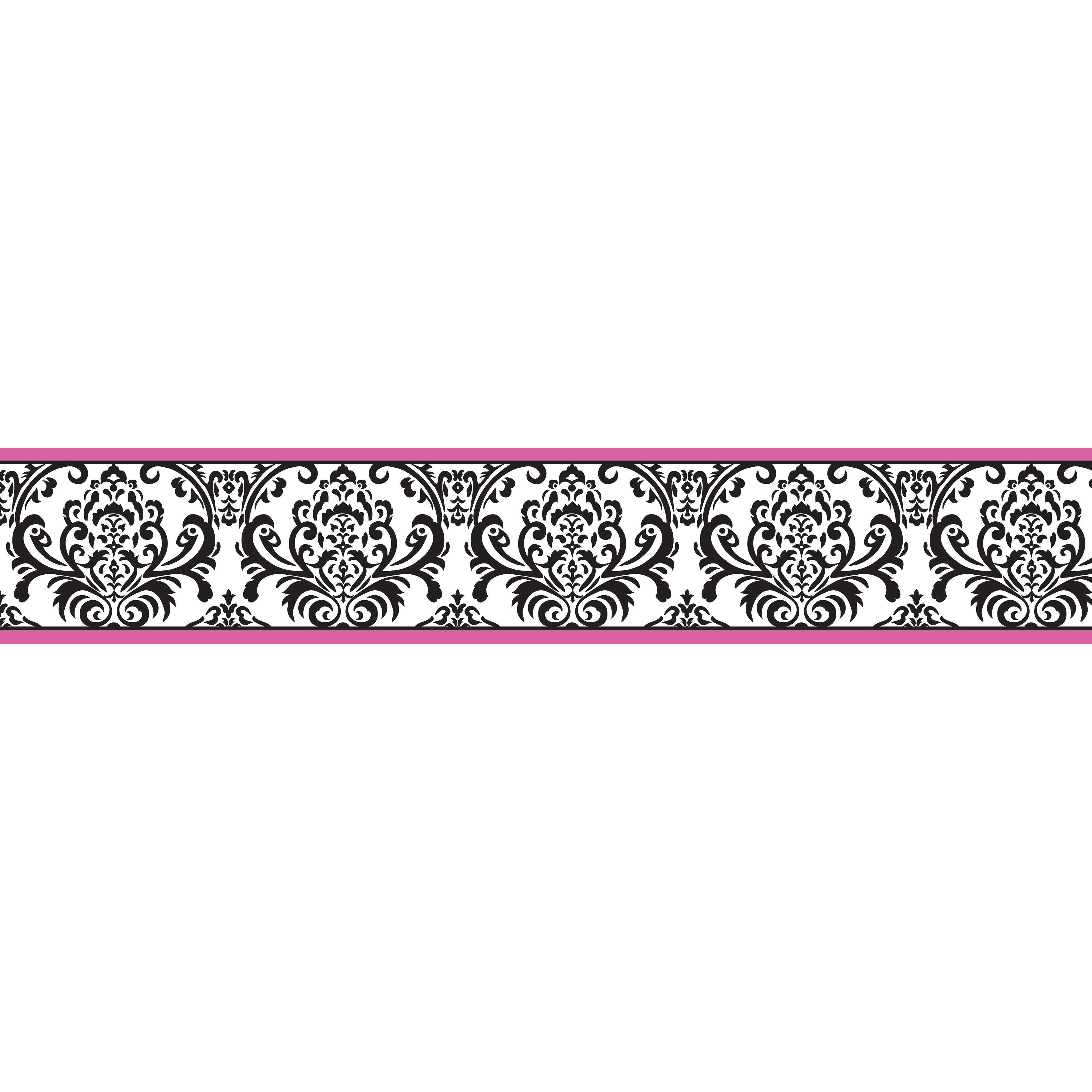 Sweet jojo designs construction zone lamp shade free shipping on - Sweet Jojo Designs Hot Pink Black And White Isabella Wall Border By Sweet Jojo Designs