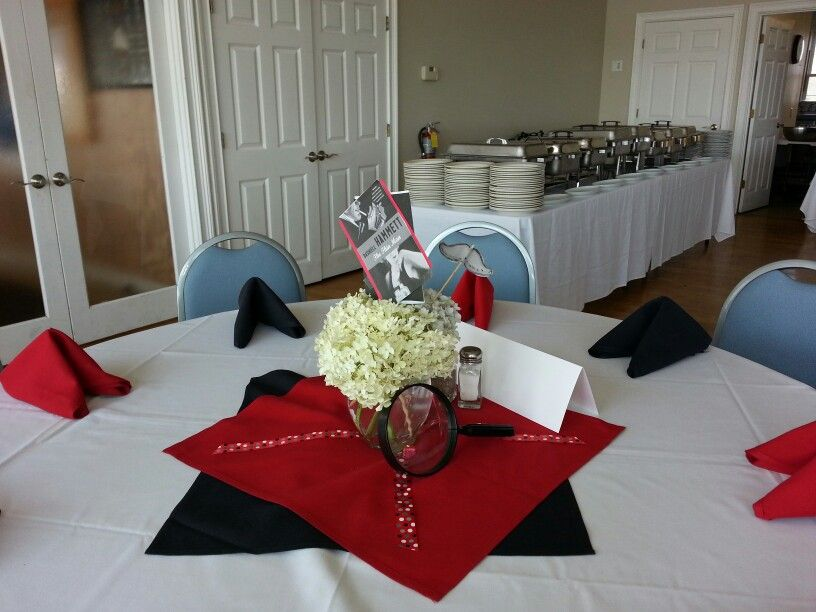 Murder mystery party centerpiece party ideas pinterest for Secret dinner party