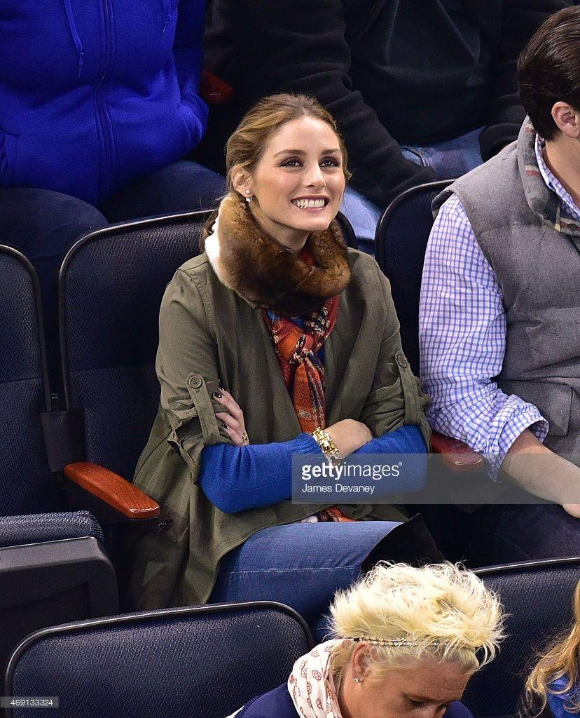 Olivia Palermo attends Ottawa Senators vs New York Rangers game at... News Photo | Getty Images