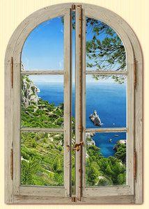 Trompe L'Oeil Window Fenêtre Sur Les Calanques by Bernard Scholl | eBay