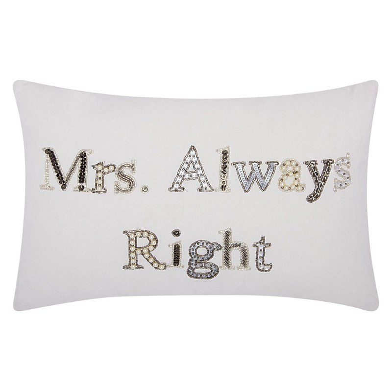 Mina Victory by Nourison Luminescence Mrs. Always Right Decorative Throw Pillow - 798019040079