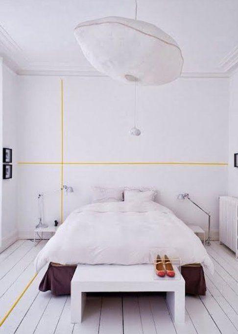 ce qu 39 on peut faire avec du masking tape 15 inspirations masking tape deco maison et d co. Black Bedroom Furniture Sets. Home Design Ideas