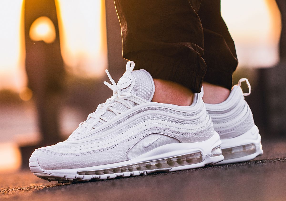 air max 97 on feet white