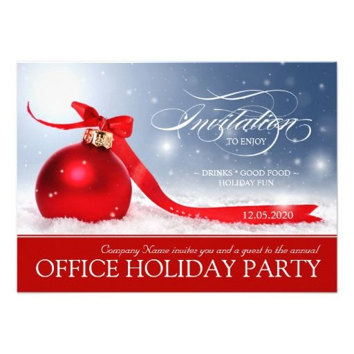 Corporate Holiday Party Invitation | Beautiful, Christmas ornament ...