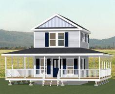 16x20 Tiny House -- 569 sq ft -- PDF Floor Plan ALBANY GEORGIA
