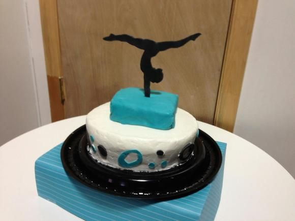 Gymnast Cake Perfect For My Niece Turning 9 Who Does Gymnastics