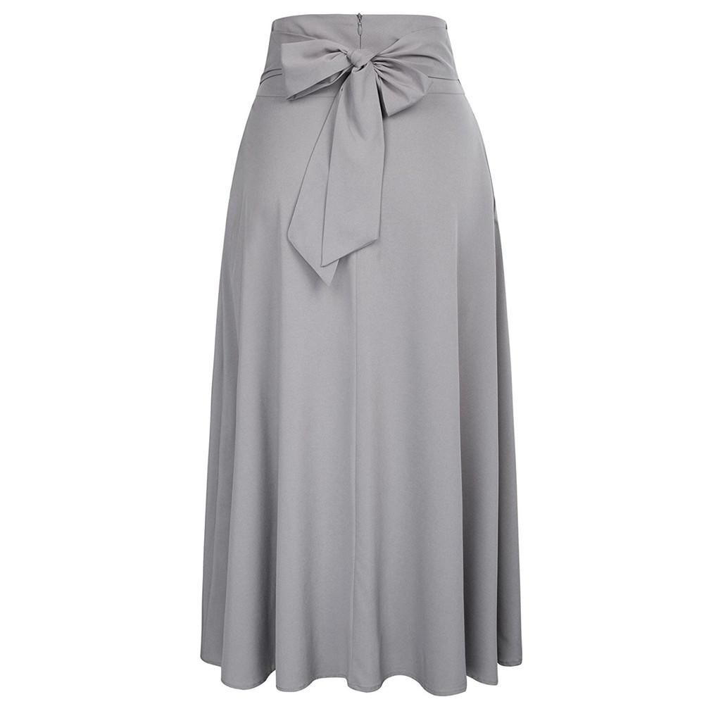 f0fec40577 Women High Waist Pleated A Line Long Skirt Front Slit Belted Maxi Skirt  S-XXL Features: 1.It is made of high quality materials,durable enought for  your ...