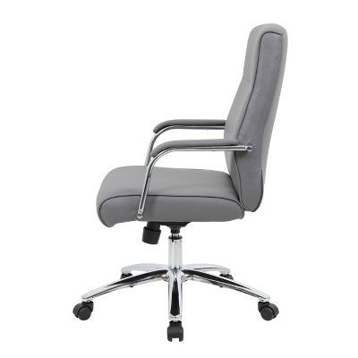 Surprising Boss Office Products Modern Executive Conference Chair Gray Andrewgaddart Wooden Chair Designs For Living Room Andrewgaddartcom