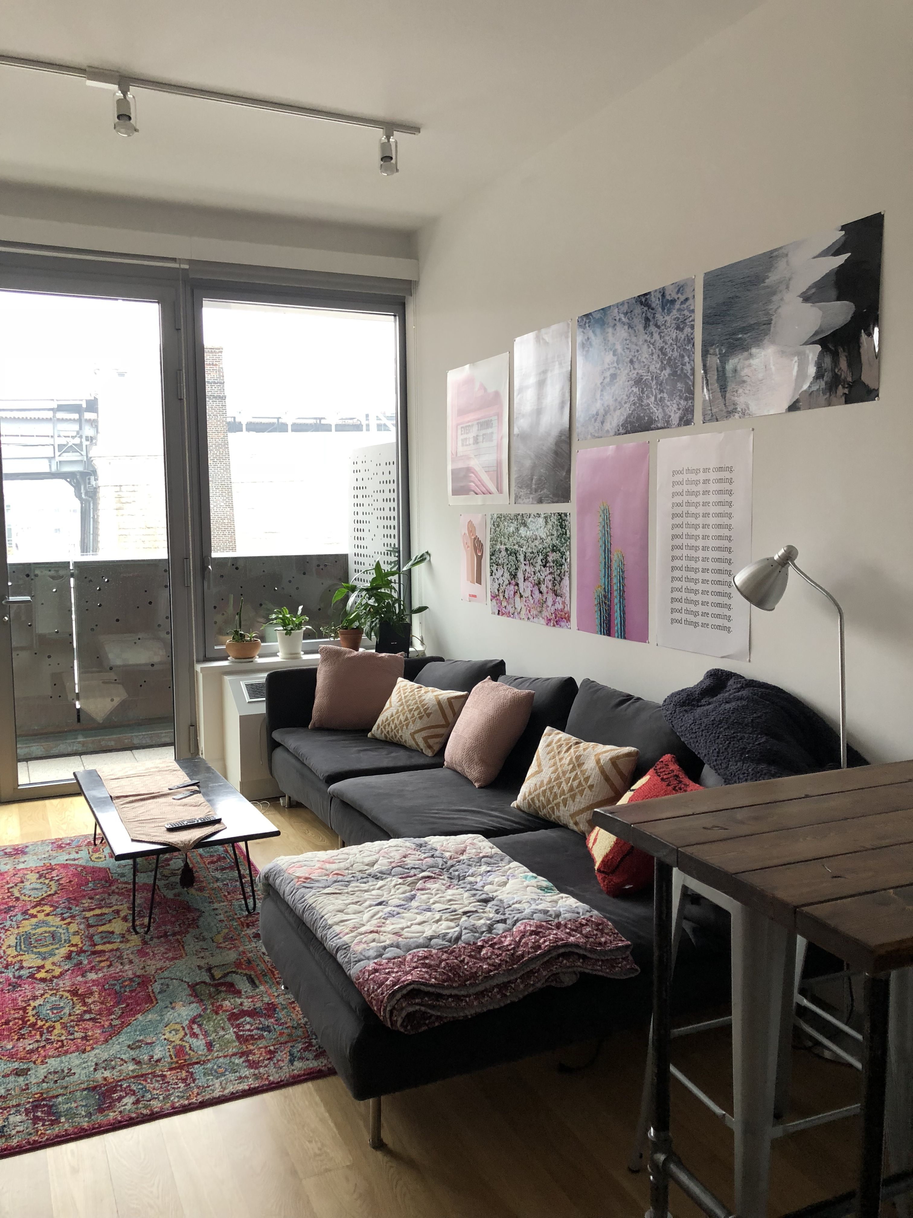 A Boho Minimalist Plant Lady's Brooklyn Rental Decor