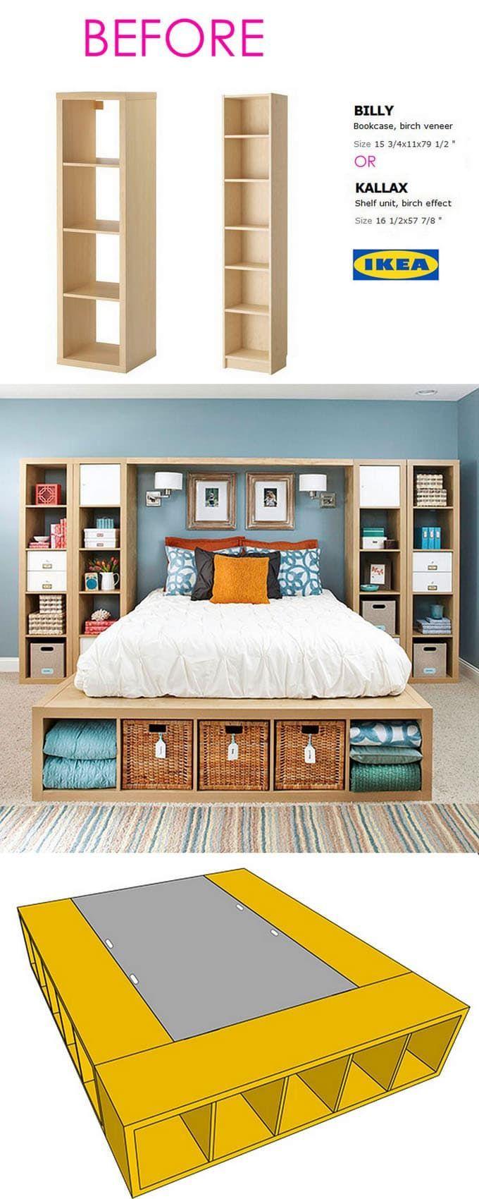 20 smart and gorgeous ikea hacks sparen sie zeit und geld mit funktionalen designs wohnung pinterest schlafzimmer mobel und ikea