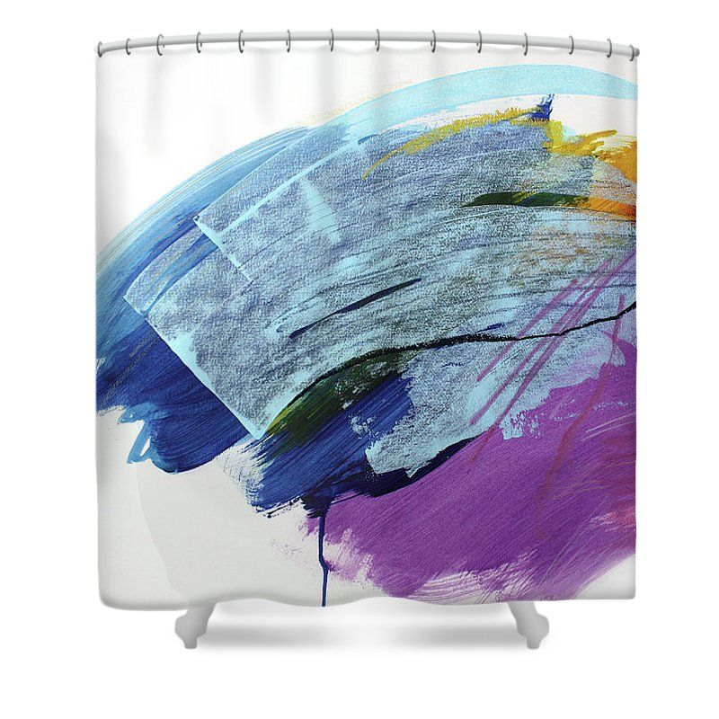 Bright Blue Shower Curtain Featuring The Painting In Morning By Melissa McGill