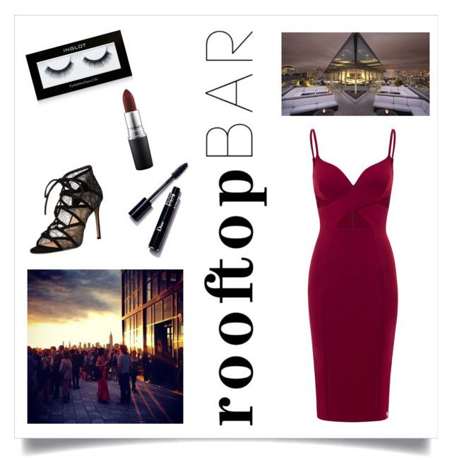 """""""Rooftop Bar"""" by balletlover15 ❤ liked on Polyvore featuring Pour La Victoire, MAC Cosmetics and Inglot"""