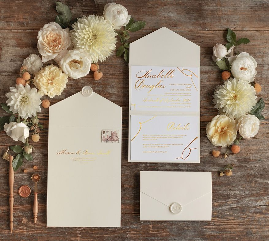 wedding invitations gold / rose gold / silver / glitter 1/foldg/z