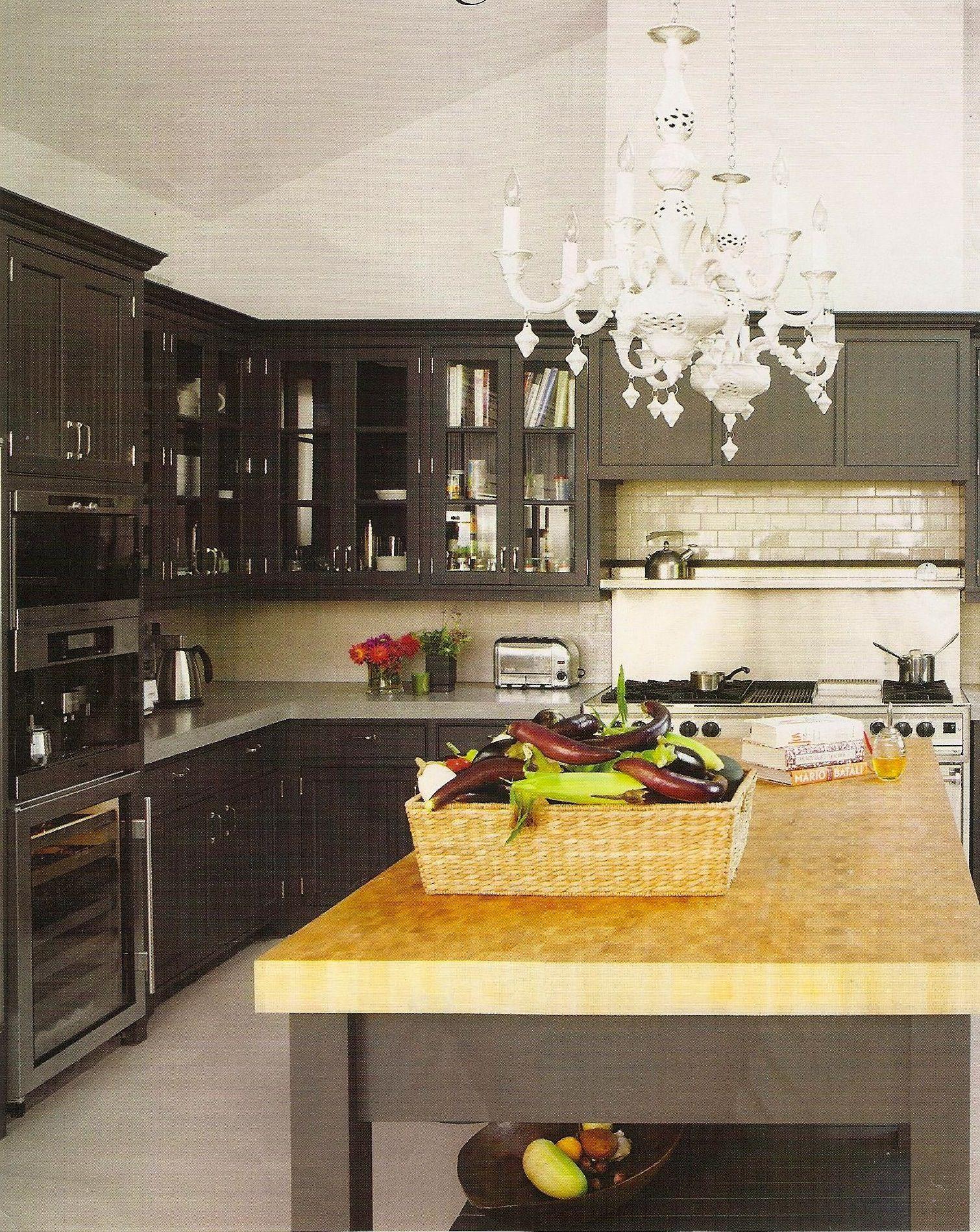 Dark Grey Kitchen Elle Decor Interiors Kitchens