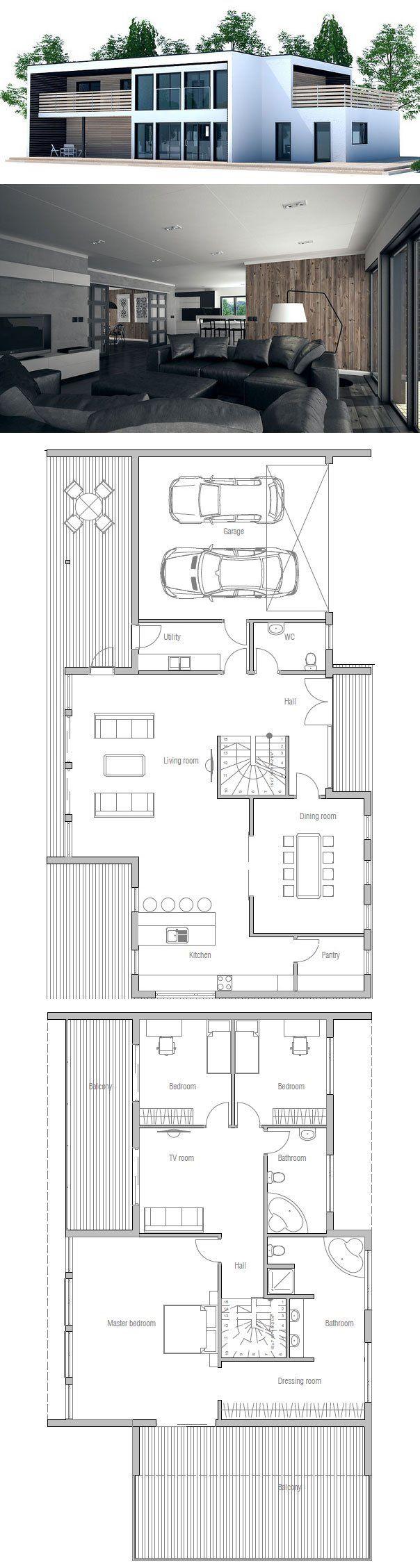 Large Contemporary House Plan. More ...repinned Für Gewinner!   Jetzt Gratis