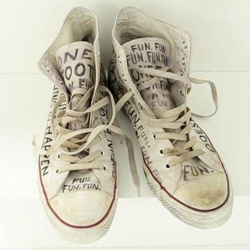 fabda17a76cc Fun.  One Foot  Converse