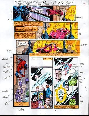 Buscema Spider-man Marvel color guide comic art page: Avengers/Hulk/Gr – Supervator Rare Vintage Comic Posters and Art: Search Our Catalog!
