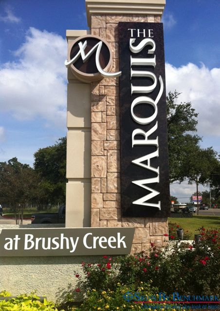 Cost Saving Towering Eifs Stone Monument By Signs By Benchmark Thrills End Customer Sign